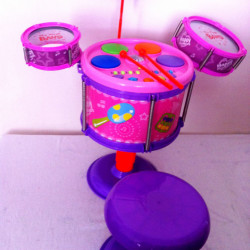Kids Toy Drumset - Pink