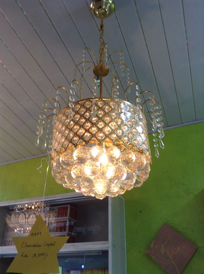 crystal chandelier with drop down crystal beadsW400x850H