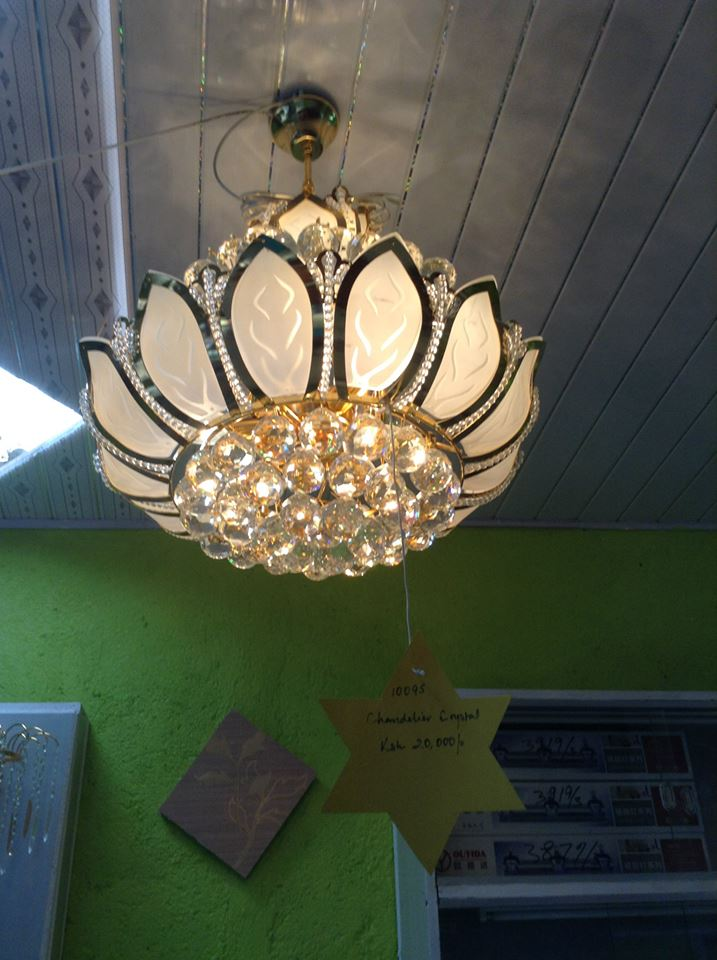 crystal chandelier with eliminating crystal ballsW550xH650mm