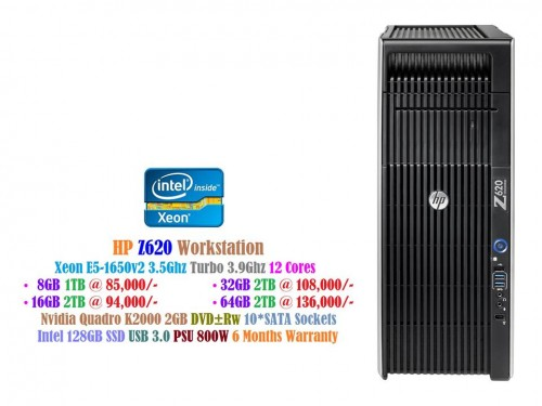 HP Z420 Workstation Tower CPU Xeon E5 1650v2 3 5Ghz 256GB SSD Nvidia