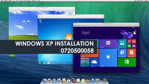 Windows XP Nairobi 0720500058 - Software and OS installation services3