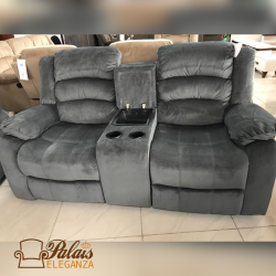 Grey Fabric 2 Seater Sofas