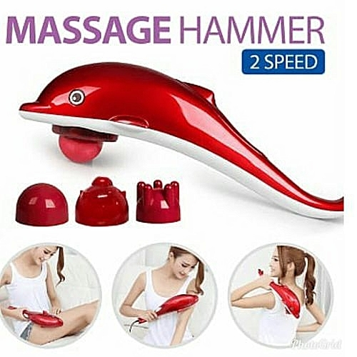 Red dolphin massager